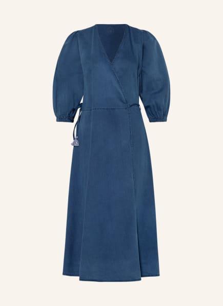 summum woman Wickelkleid in Jeansoptik, Farbe: DUNKELBLAU (Bild 1)