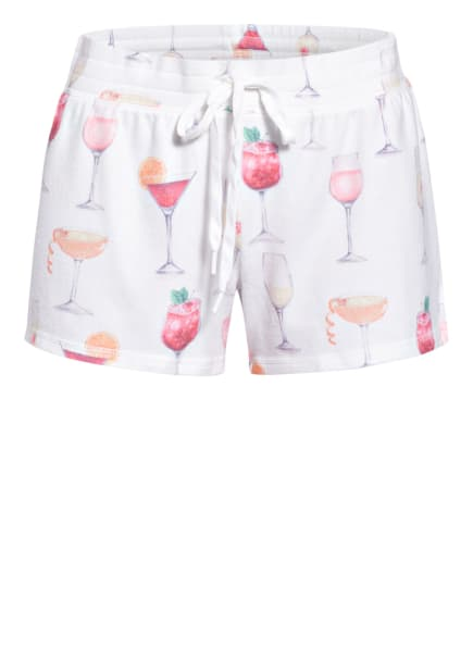 P.J.Salvage Lounge-Shorts in Nicky-Qualität, Farbe: WEISS/ HELLORANGE/ PINK (Bild 1)