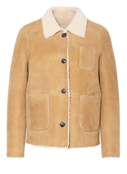 CLOSED Jacke WILLOW aus Leder zum Wenden, Farbe: BEIGE (Bild 1)
