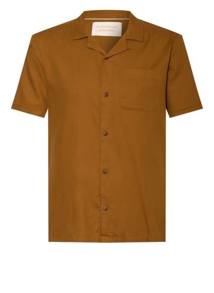 SCOTCH & SODA Kurzarm-Hemd , Farbe: BRAUN (Bild 1)