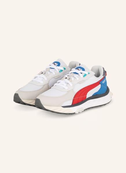 PUMA Sneaker WILD RAIDER LAYERS, Farbe: WEISS/ CREME/ ROT (Bild 1)