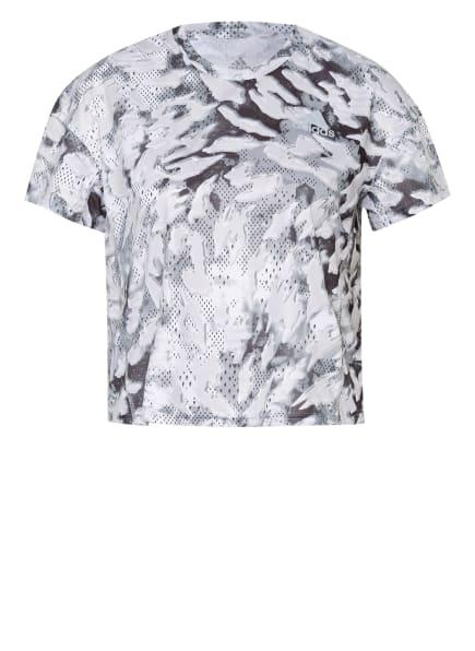 adidas Laufshirt FAST PRIMEBUE, Farbe: WEISS/ GRAU/ HELLGRAU (Bild 1)