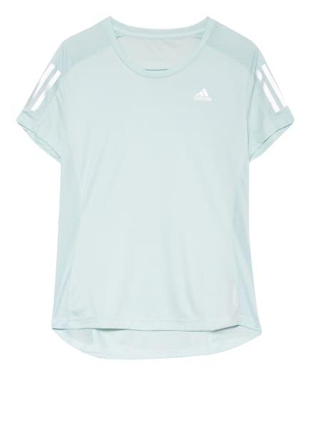 adidas Laufshirt OWN THE RUN mit Mesh-Einsätzen, Farbe: HELLBLAU (Bild 1)