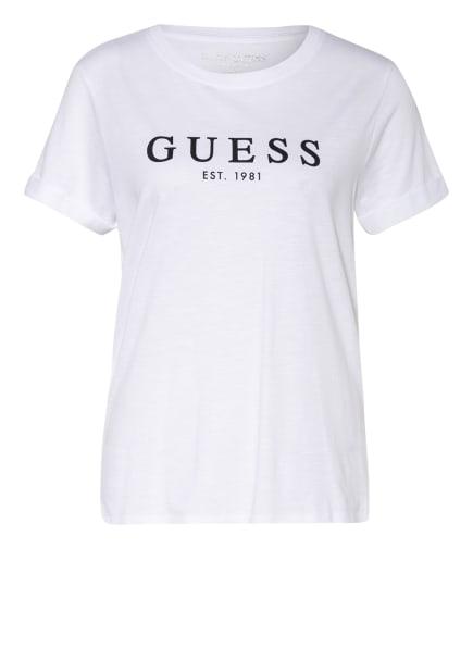GUESS T-Shirt, Farbe: WEISS/ SCHWARZ (Bild 1)