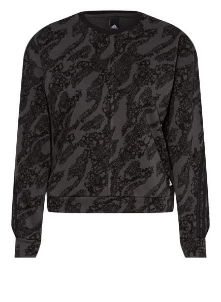 adidas Sweatshirt SPORTSWEAR FUTURE ICONS, Farbe: SCHWARZ/ GRAU (Bild 1)