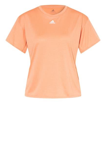 adidas T-Shirt AEROREADY, Farbe: LACHS (Bild 1)