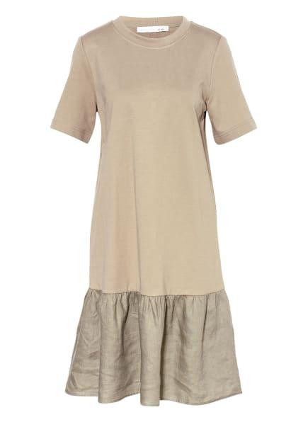 oui Kleid mit Leinen, Farbe: KHAKI (Bild 1)