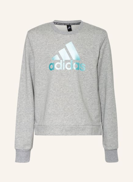 adidas Sweatshirt BOS, Farbe: HELLGRAU/ HELLBLAU (Bild 1)