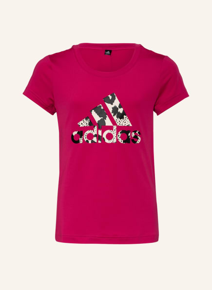 adidas T-Shirt AEROREADY PRIMEGREEN, Farbe: FUCHSIA/ SCHWARZ/ WEISS (Bild 1)