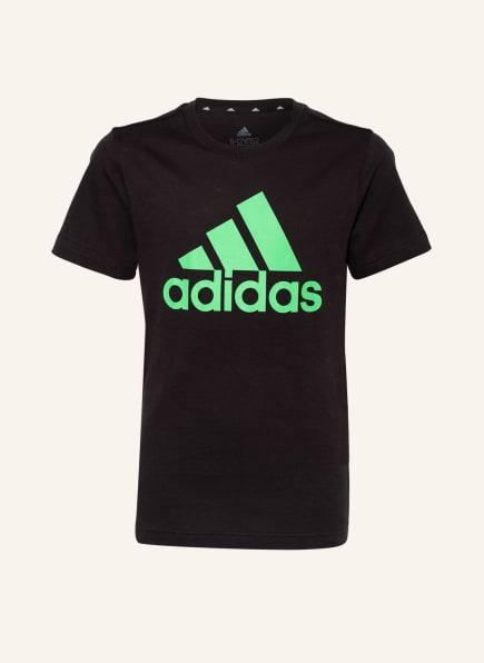 adidas T-Shirt , Farbe: SCHWARZ/ NEONGRÜN (Bild 1)