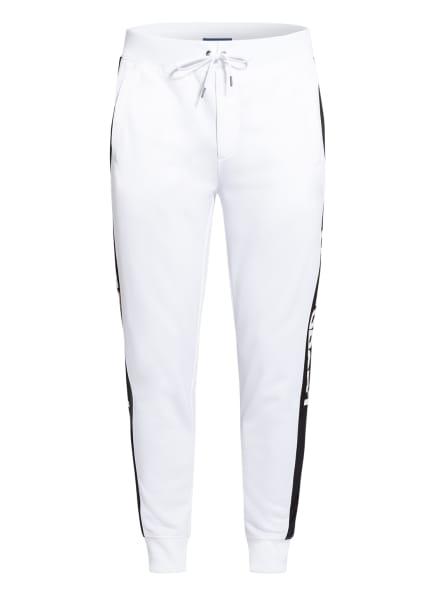 POLO RALPH LAUREN Sweatpants mit Galonstreifen, Farbe: WEISS/ SCHWARZ (Bild 1)