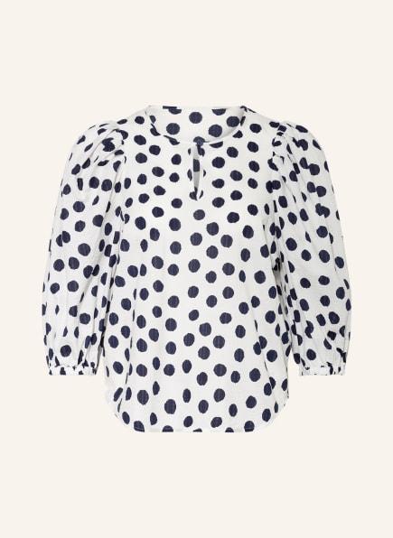 BAUM UND PFERDGARTEN Blusenshirt MIHA mit 3/4-Arm, Farbe: WEISS/ DUNKELBLAU (Bild 1)
