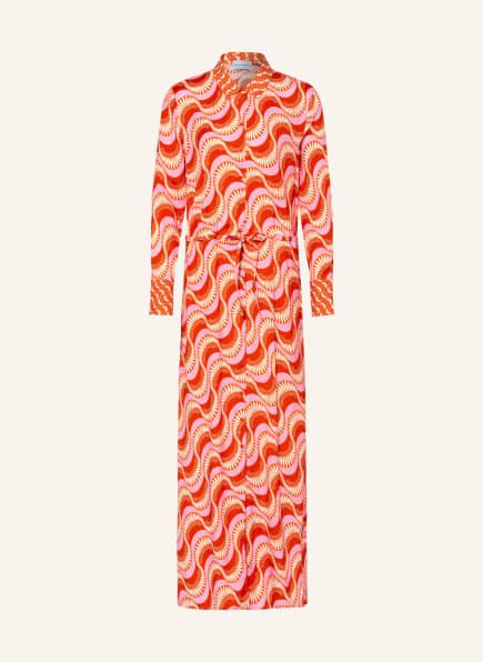 herzensangelegenheit Hemdblusenkleid, Farbe: ROSA/ WEISS/ ROT (Bild 1)