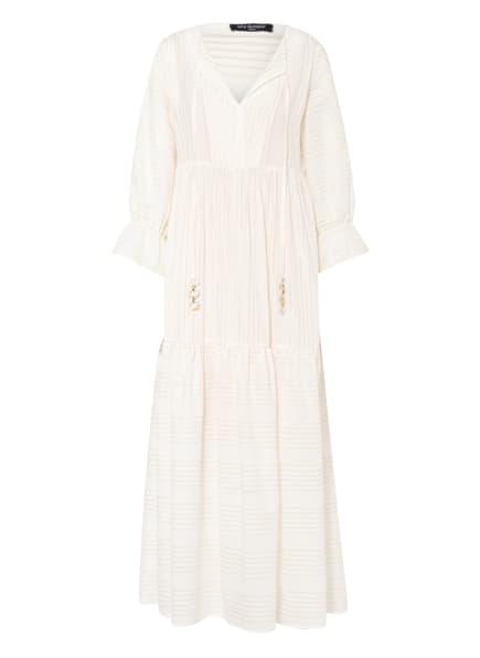 ana alcazar Kleid mit 3/4-Arm und Glitzergarn , Farbe: ECRU/ GOLD (Bild 1)