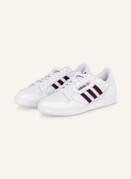 adidas Originals CONTINENTAL 80, Farbe: WEISS/ BLAU/ ROT (Bild 1)