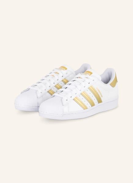 adidas Originals Sneaker SUPERSTAR , Farbe: WEISS/ GOLD (Bild 1)