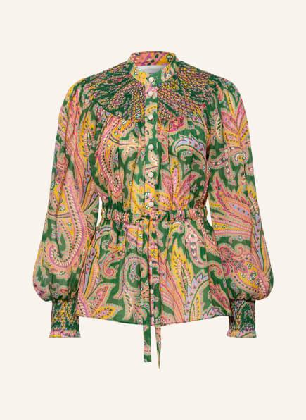 ZIMMERMANN Bluse TEDDY , Farbe: GRÜN/ GELB/ ROSA (Bild 1)
