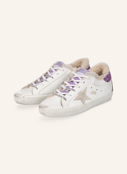 GOLDEN GOOSE Sneaker SUPERSTAR, Farbe: WEISS/ LILA (Bild 1)
