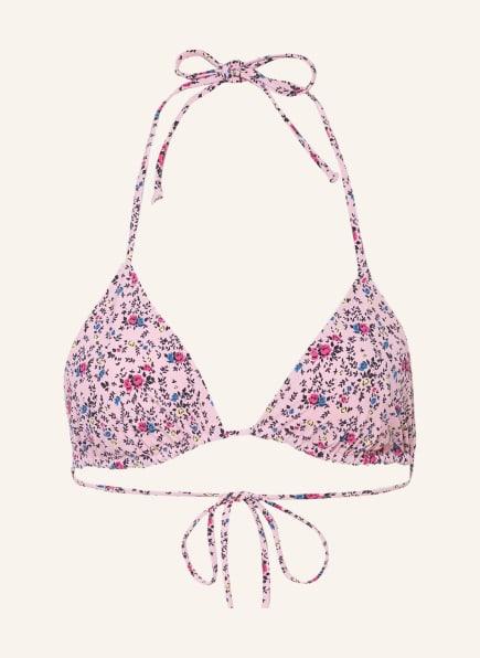GANNI Triangel-Bikini-Top , Farbe: HELLROSA/ PINK/ BLAU (Bild 1)