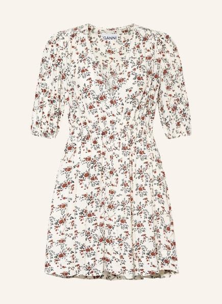 GANNI Kleid mit 3/4-Arm, Farbe: ECRU/ BRAUN/ SCHWARZ (Bild 1)