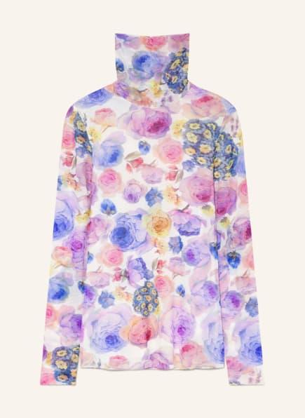 GANNI Rollkragenshirt, Farbe: WEISS/ FUCHSIA/ BLAU (Bild 1)