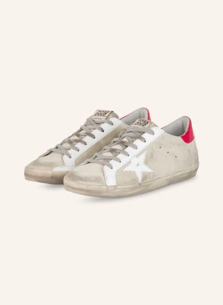 GOLDEN GOOSE Sneaker SUPERSTAR, Farbe: HELLGRAU/ WEISS/ PINK (Bild 1)