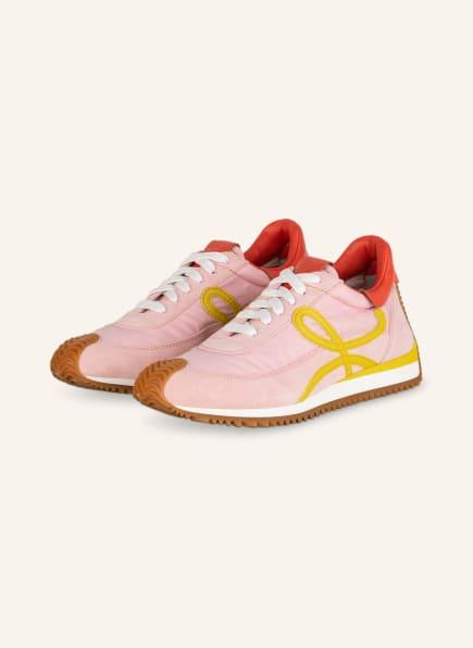 LOEWE Plateau-Sneaker FLOW RUNNER, Farbe: ROSA/ GELB (Bild 1)