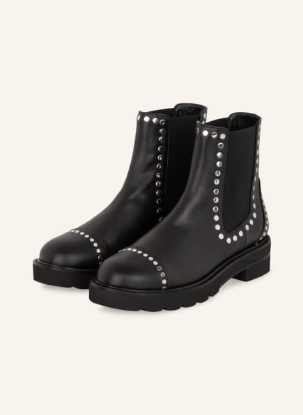 STUART WEITZMAN Chelsea-Boots FRANKIE mit Nietenbesatz, Farbe: SCHWARZ (Bild 1)