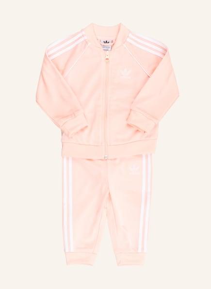 adidas Originals Trainingsanzug, Farbe: ROSA/ WEISS (Bild 1)