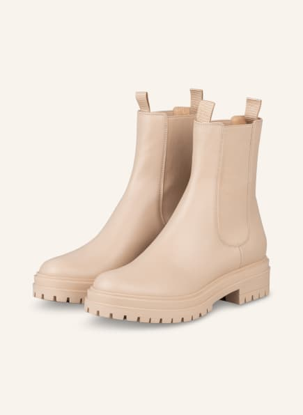Gianvito Rossi Chelsea-Boots CHESTER, Farbe: CREME (Bild 1)