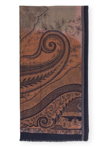ETRO Cashmere-Schal , Farbe: COGNAC/ DUNKELBLAU (Bild 1)