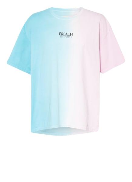 PREACH T-Shirt , Farbe: TÜRKIS/ HELLROSA (Bild 1)
