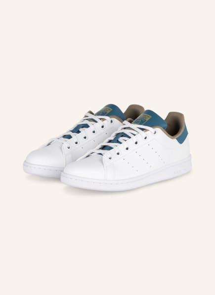 adidas Originals Sneaker STAN SMITH, Farbe: WEISS/ OLIV/ BLAU (Bild 1)