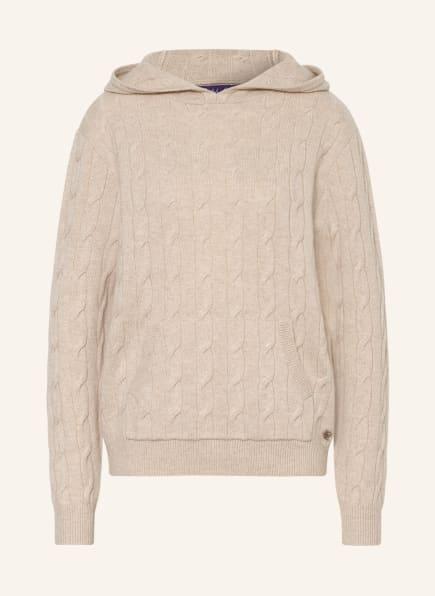 RALPH LAUREN Collection Strick-Hoodie aus Cashmere, Farbe: BEIGE (Bild 1)