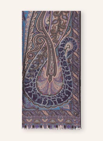 ETRO Schal, Farbe: DUNKELLILA/ CREME/ HELLBLAU (Bild 1)
