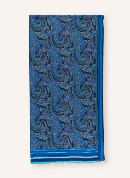 ETRO Cashmere-Schal mit Seide, Farbe: BLAU/ TÜRKIS (Bild 1)
