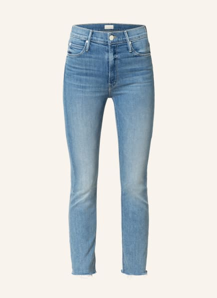 MOTHER Straight Jeans THE MID RISE DAZZLER COP FRAY , Farbe: blowing kisses  hellblau denim (Bild 1)