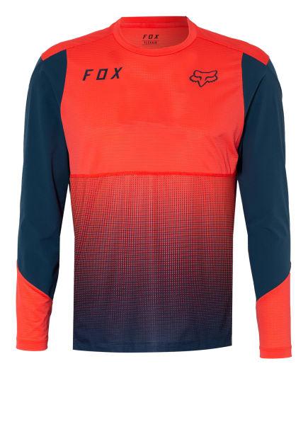 FOX RACING Radshirt FLEXAIR mit Mesh-Einsätzen, Farbe: BLAU/ NEONROT (Bild 1)