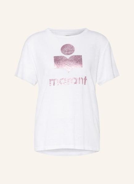 ISABEL MARANT ÉTOILE T-Shirt ZEWEL aus Leinen, Farbe: WEISS/ PINK (Bild 1)
