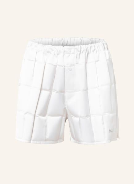 coperni Satin-Shorts FLOU MÉCANIIQUE, Farbe: WEISS (Bild 1)