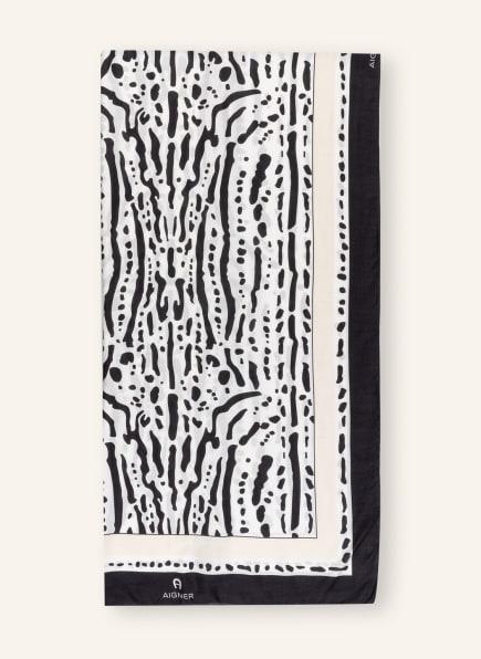 AIGNER Schal , Farbe: WEISS/ DUNKELBLAU/ CREME (Bild 1)