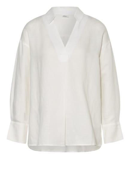 s.Oliver BLACK LABEL Oversized-Blusenshirt, Farbe: WEISS (Bild 1)