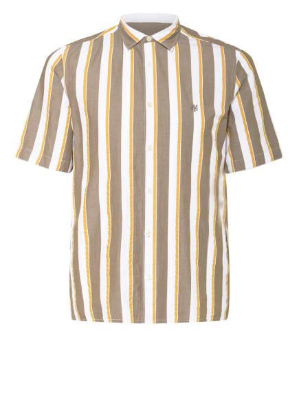 Marc O'Polo Kurzarm-Hemd Regular Fit, Farbe: WEISS/ DUNKELGELB/ TAUPE (Bild 1)