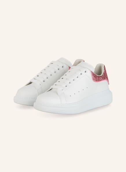 Alexander McQUEEN Plateau-Sneaker mit Glitzerbesatz, Farbe: WEISS/ PINK/ ROSA (Bild 1)