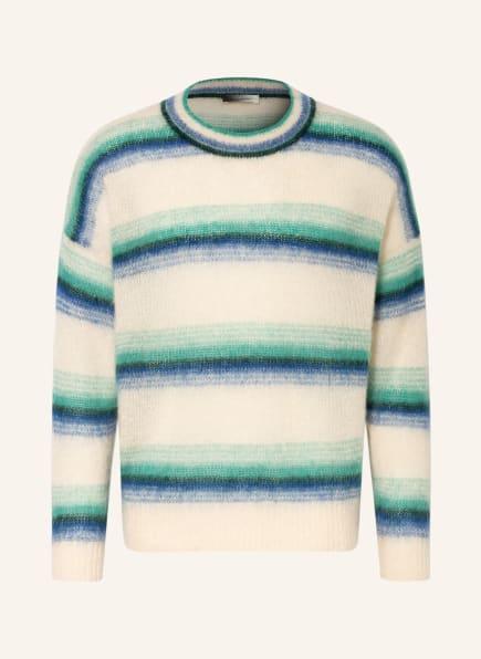 ISABEL MARANT Pullover DRUSSELLH mit Mohair, Farbe: ECRU/ GRÜN/ BLAU (Bild 1)