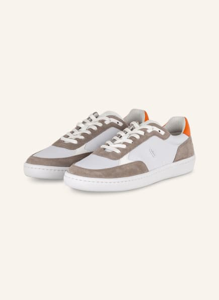 BOSS Sneaker RIBEIRA TENN, Farbe: WEISS/ TAUPE (Bild 1)