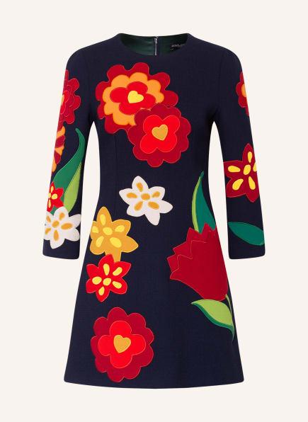 DOLCE&GABBANA Kleid mit 3/4-Arm, Farbe: DUNKELBLAU/ DUNKELROT (Bild 1)