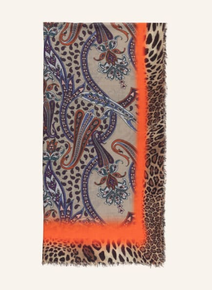 MALA ALISHA Schal WANDERLUST, Farbe: ORANGE/ HELLGRÜN/ BLAU (Bild 1)