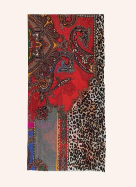 MALA ALISHA Tuch PONDEROSA, Farbe: ROT/ BRAUN/ BLAUGRAU (Bild 1)