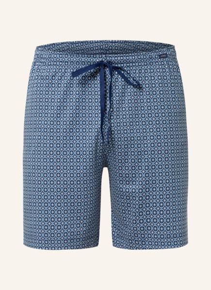 mey Lounge-Shorts Serie VESANLO, Farbe: DUNKELBLAU/ HELLBLAU (Bild 1)